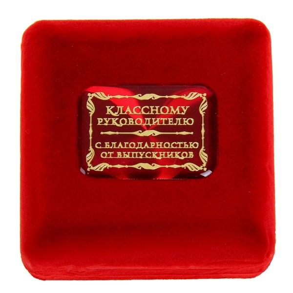 """Медаль в бархатной коробке """"Классному руководителю"""" - фото 204478"""