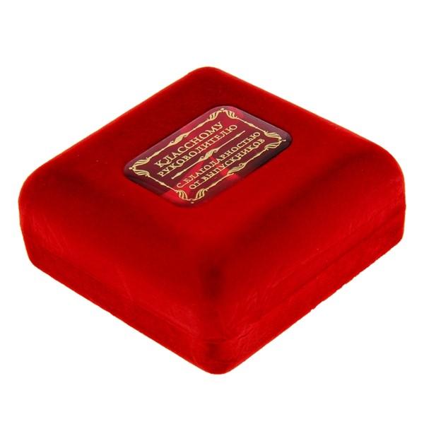 """Медаль в бархатной коробке """"Классному руководителю"""" - фото 204479"""