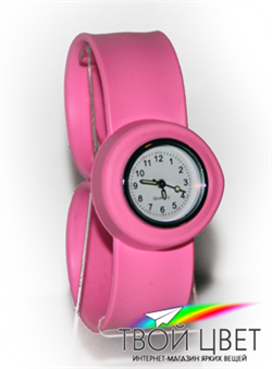 Slap on watch MINI - розовые
