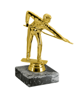 Статуэтка Бильярд на мраморной подставке