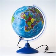 Глобус политический с подсветкой 21 см